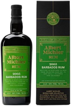 Albert Michler Single Cask Barbados 15y 2005 0,7l 48% GB / Rok lahvování 2020