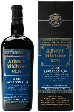 Albert Michler Single Cask Barbados 19y 2001 0,7l 51% GB / Rok lahvování 2020